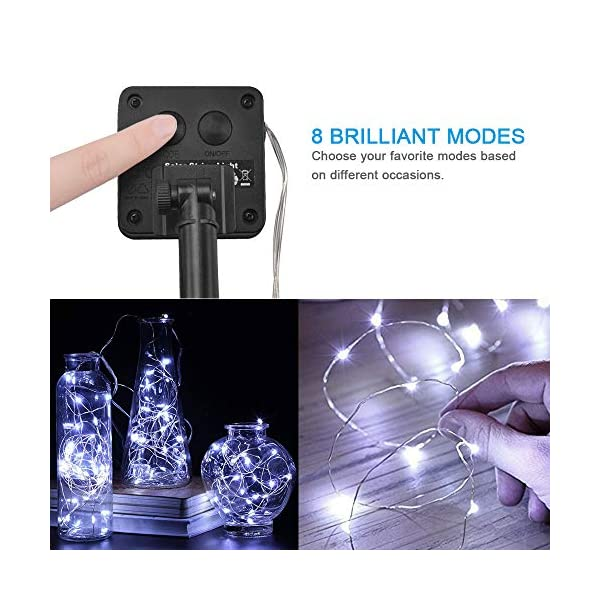 BOLWEO Solar Powered String Lights,Waterproof Fairy Lights for Outdoor Decoration 3