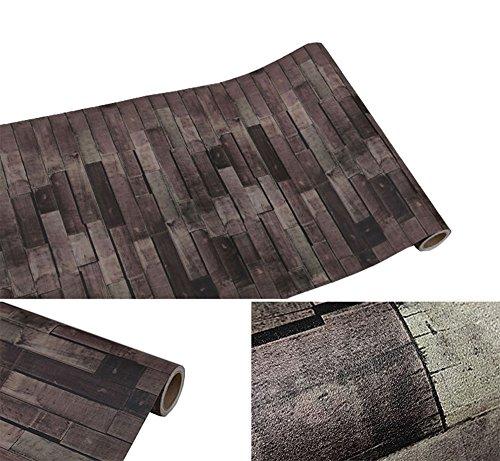 Kunst-schubladen (Selbstklebend Vintage Wood Panel Stein Muster Kontakt Papier für Küche Schränke Regale Schublade Wand Kunst und Handwerk Aufkleber 61x 297,2cm)
