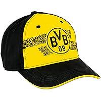 Borussia Dortmund Kappe, Gelb, Baumwolle, Umfang 58,5 cm, Saison 17/18, BVB- Emblem (gelb-schwarz)