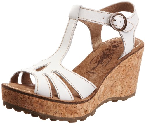 Fly London Gold, Sandali donna, Beige (Off White), 38