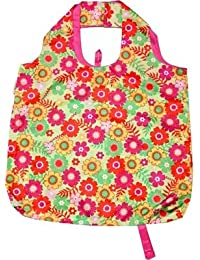 B.B.Begonia A80111613 Go With The Flow Printed Reusable Shopping Bag - 19.5 X 16.5 In. Pack Of 3