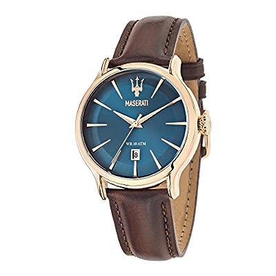 Maserati Reloj Analógico de Cuarzo para Hombre con Correa de Cuero – R8851118001 de MASERATI