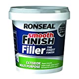 Ronseal - Masilla multiusos para exteriores (1,2 kg, acabado suave, premezclada)