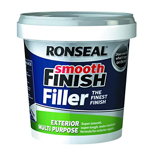Ronseal ERMF12Kg 1.2Kg Smooth Finish Exterior Multi-Purpose Ready Mix Filler Tub