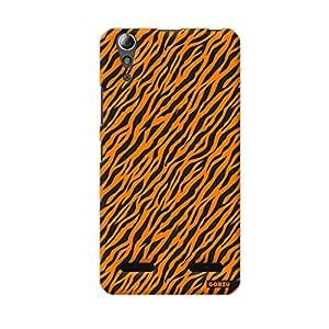 Gobzu Printed Back Covers for Lenovo A6000 - Zebra Orange