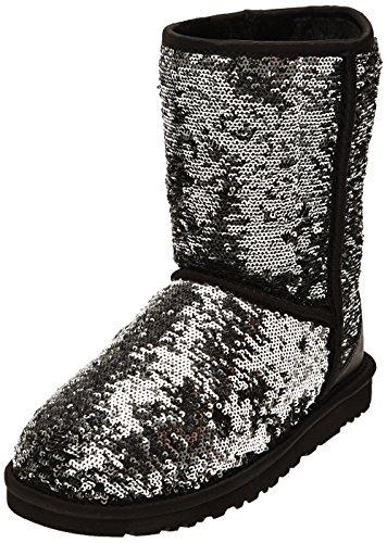 short sparkles, schwarz (black), 36 (Black Sparkle Boots)