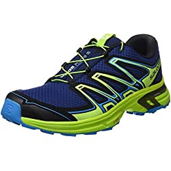 Salomon Wings Flyte 2, Zapatillas de Trail Running Hombre, Azul (Blue Depths/Lime Green/Hawaiian Sur), 44 EU
