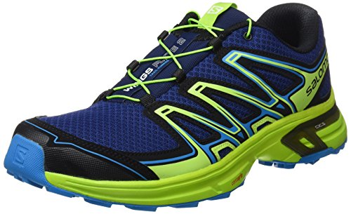 Salomon - Wings Flyte 2 - Chaussures de Course - Homme - Bleu (Blue Depths/Lime Green/Hawaiian Surf) - 42 EU