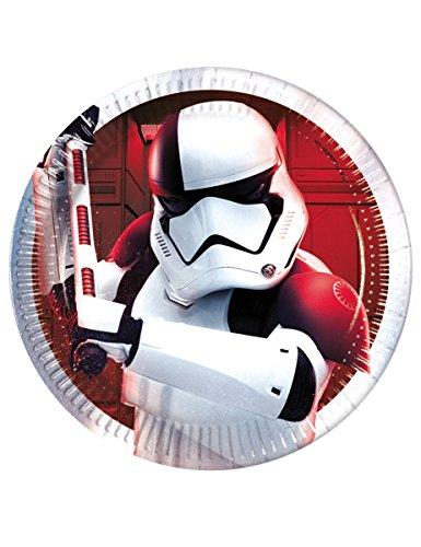 Generique - 8 Petites Assiettes Star Wars 8 The Last Jedi 20 cm
