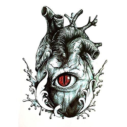 LBBMBC Devil's Eye Wasserdichter Tattoo Aufkleber Harajuku Herren Herz Henna Tattoo Set Fake Tattoo Girl
