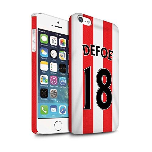 Offiziell Sunderland AFC Hülle / Matte Snap-On Case für Apple iPhone SE / Pack 24pcs Muster / SAFC Trikot Home 15/16 Kollektion Defoe
