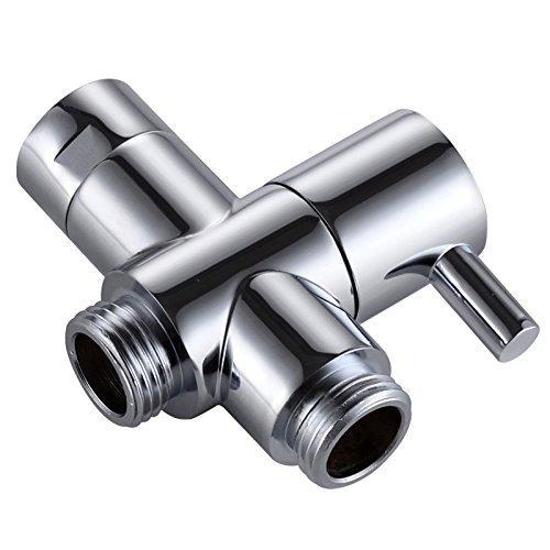 KES 3-Wege-Umschaltventil für die Dusche, Massives Messing, BSP-Gewinde (0,5 Zoll / 12,7 mm), Chrom Poliert PV4