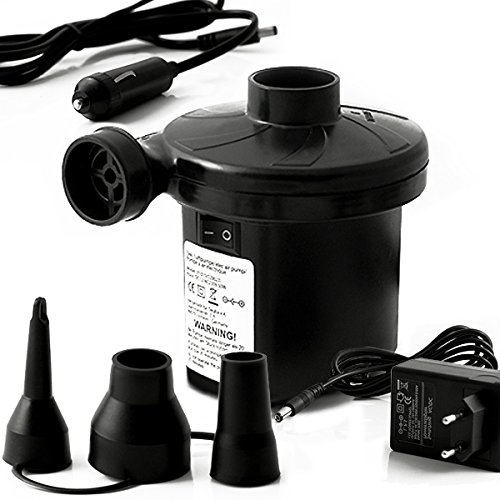 Elektrische Luftpumpe Pumpe Bootspumpe Elektropumpe Gebläsepumpe Badetiere Gästebett Camping Pool 12 Volt 230 V