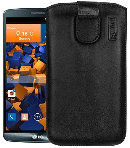 mumbi ECHT Ledertasche für LG G3 Tasche Leder Etui (Lasche mit Rückzugfunktion Ausziehhilfe)