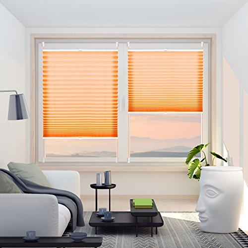 Fensterrollo : Plissee klemmfix ohne Bohren Verdunklung Seitenzugrollo Faltrollo für Sonnenschutz