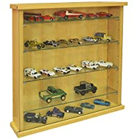 WATSONS COLLECTORS - Wall Display Cabinet With Four Glass Shelves - Beech