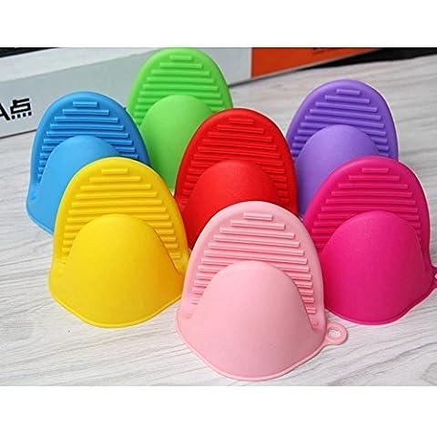 LanLan Silicone Pot Holder Oven Mini Mitt Cooking Pinch Grip Heat Resistant (Pink 1PCS )