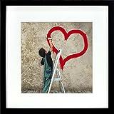 BD ART Cadre Photo 28 x 28 cm avec Passe-Partout Noir 20 x 20 cm