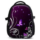 Rucksack für Jungen Mädchen Damen Herren - Schulrucksack Schulranzen Ranzen für die Schule - Backpack für Stadt / Sport für Kinder & Jugendliche - Cooles Design / aus Canvas Stoff - Butterfly Light