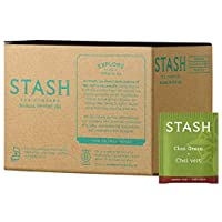 Stash Tea Green Chai Tea, 100 Count Box of Tea Bags in Foil