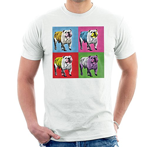Great British Pub Dogs Andy Warhol Bulldog Men's T-Shirt
