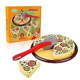 Peradix Gioco Pizza Magnetica con Taglia Pizza per Bambini Cucina Gioco