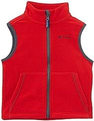 VAUDE Weste Kids Eagle Eye Vest II - Chaleco para niño, color rojo, talla 6 años (116 cm) [DE 110/116]