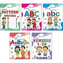 InIkao English Copy Writing Practice Books For kindergarten kids: Set of 5 Books