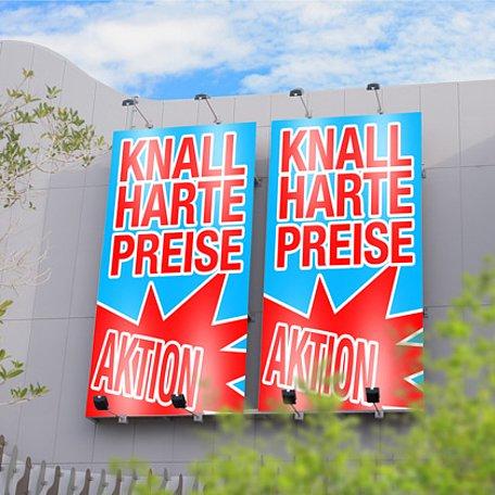 PVC Banner / Werbebanner von Ihrer Datei 2 x 1 Meter inklusive Druck und Ösen