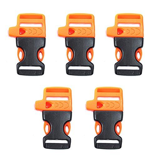 GEZICHTA 5x Seite Release Kunststoff Mini Schnallen, Kunststoff Delrin Clip Release Schnallen Clips für Gurtband, Orange -