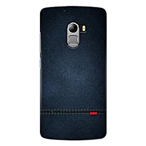 CrazyInk Premium 3D Back Cover for Lenovo K4 Note - Blue Leather Texture CILK4NB059