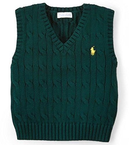 Ralph Lauren Baby Strick Pullunder dunkelgrün (68)