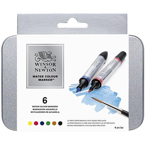 Winsor & Newton Watercolor Marker confezione da 6 Pennarelli assortiti