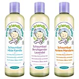 Lansinoh Earth Friendly Baby Schaumbad 3er-Set Lavendel - Kamille - Mandarine