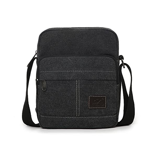 0403a66205 EssVita Men s Retro Canvas Messenger Bag Outdoor Sports Shoulder Bags  Crossbody Satchel Bag for Travel Hiking Daypack