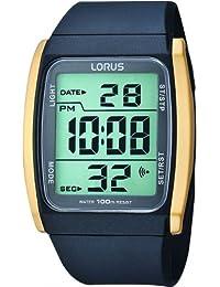 Lorus R2302HX-9 R2302HX9 - Reloj unisex, correa de goma color negro