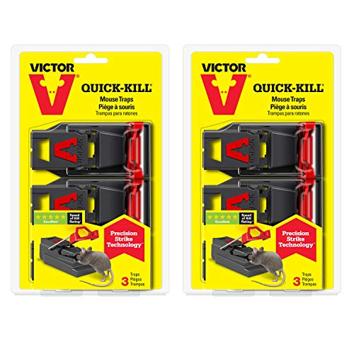 Victor M140SSR 2-Pack Quick-Kill Mouse, 6 Traps -