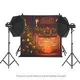 Andoer Andoer 1.5 * 2m Telón de Fondo de Fotografía Impresión Digital Árbol de Navidad Chimenea Campana Patrón de la Impresión para Foto Estudio