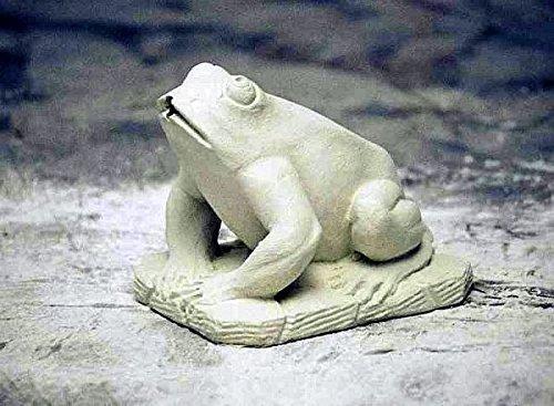 pompidu-living Wasserspeier, Frosch, rustikaler Sockel, Steinfigur, Gartenfigur Farbe Sandstein