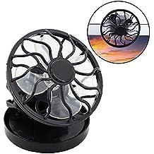 Ventilador Portatil,VENMO Clip en el ventilador de la célula solar energía solar panel de
