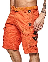 Short Perle homme Geographical Norway Orange XL