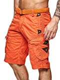 Short Perle homme Geographical Norway Orange M