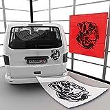 Rottweiler Hundeaufkleber Rassehunde Klebe-X Hunde Motive | A00643 29 - schwarz matt 59 cm (B) x 63 cm (H)