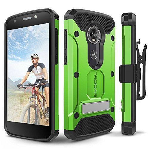 Motorola Moto E5Plus Fall, evocel [Explorer Pro-Serie] mit Glas Displayschutzfolie und Metallständer für Motorola Moto E5Plus, grün - Telefono T-mobile