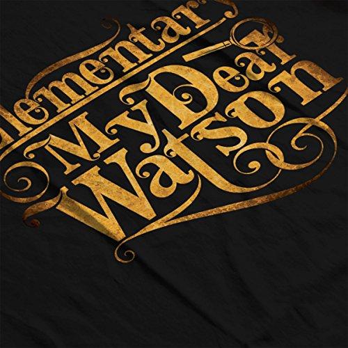 Elementary My Dear Watson Sherlock Holmes Quote Men's Vest Black