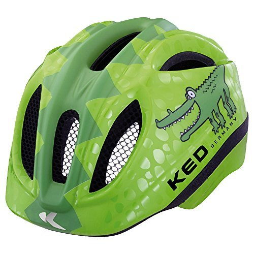 KED Fahrradhelm Meggy Reptile, Green Croco, 44-49 cm, 15409260XS