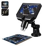 M.Way Microscope Numérique Portable 1-600X Loupe Écran LCD...