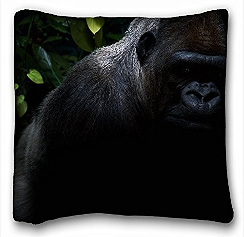 Decorative Square throw Pillow case Animals Gorilla Hair S Shadow