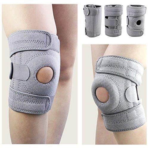 Soporte para la rodilla, KIROLAK Neopreno Buena compresión deportiva Manga de soporte de la rodilla para menisco de ACL Recuperación de lesión por rotura Confort Confort - Gris