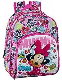 Minnie Mouse Cool - Mochila infantil 34 cm adaptable a carro (Safta 611848609)